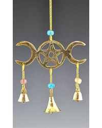 Triple Moon Brass Chime All Wicca Magickal Supplies Wiccan Supplies, Wicca Books, Pagan Jewelry, Altar Statues
