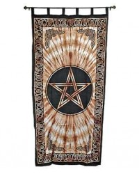 Pentacle Brown Curtain All Wicca Magickal Supplies Wiccan Supplies, Wicca Books, Pagan Jewelry, Altar Statues