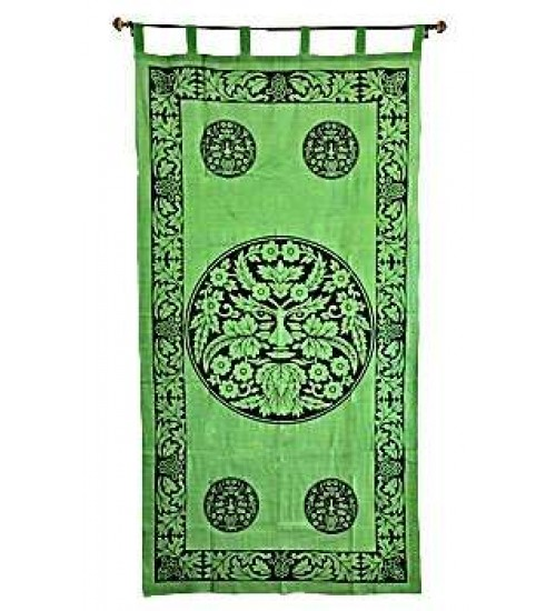 Greenman Curtain at All Wicca Store Magickal Supplies, Wiccan Supplies, Wicca Books, Pagan Jewelry, Altar Statues