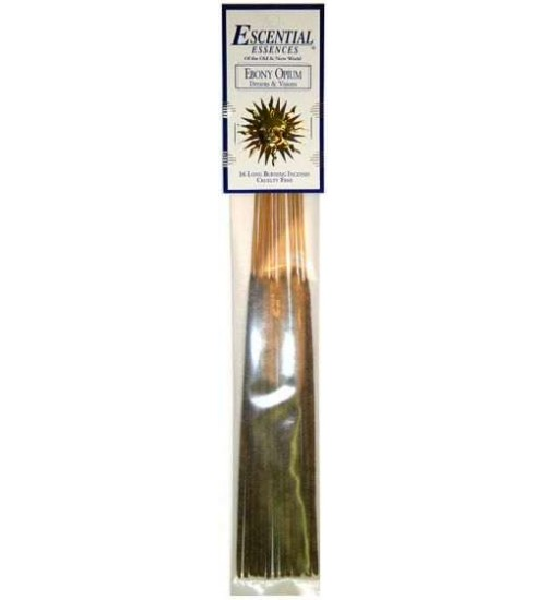 Ebony Opium Escential Essences Incense at All Wicca Store Magickal Supplies, Wiccan Supplies, Wicca Books, Pagan Jewelry, Altar Statues