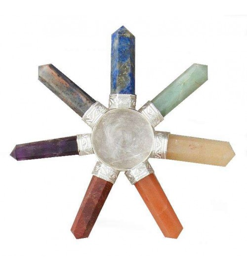 7 Chakra Crystal Energy Generator at All Wicca Magickal Supplies, Wiccan Supplies, Wicca Books, Pagan Jewelry, Altar Statues