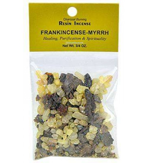Frankincense and Myrrh Resin Incense Blend at All Wicca, Wiccan Altar Supplies, All Wicca Books, Pagan Jewelry, Wiccan Statues
