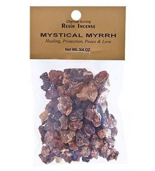 Mystical Myrrh Resin Incense at All Wicca, Wiccan Altar Supplies, All Wicca Books, Pagan Jewelry, Wiccan Statues