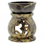 Om Carved Soapstone Oil Burner