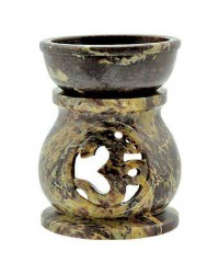 Om Carved Soapstone Oil Burner All Wicca Store Magickal Supplies Wiccan Supplies, Wicca Books, Pagan Jewelry, Altar Statues