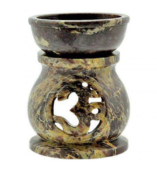 Om Carved Soapstone Oil Burner at All Wicca Magickal Supplies, Wiccan Supplies, Wicca Books, Pagan Jewelry, Altar Statues