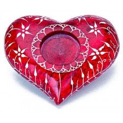 Red Heart Soapstone Candle Holder All Wicca Wiccan Altar Supplies, All Wicca Books, Pagan Jewelry, Wiccan Statues