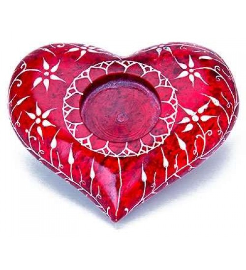 Red Heart Soapstone Candle Holder at All Wicca Magickal Supplies, Wiccan Supplies, Wicca Books, Pagan Jewelry, Altar Statues