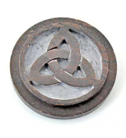 Triquetra SoapStone Altar Paten Tile at All Wicca Store Magickal Supplies, Wiccan Supplies, Wicca Books, Pagan Jewelry, Altar Statues