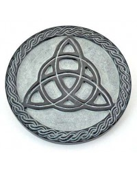 Triquetra Green Stone Altar Paten Tile All Wicca Store Magickal Supplies Wiccan Supplies, Wicca Books, Pagan Jewelry, Altar Statues