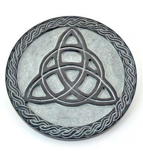 Triquetra Green Stone Altar Paten Tile at All Wicca Magickal Supplies, Wiccan Supplies, Wicca Books, Pagan Jewelry, Altar Statues