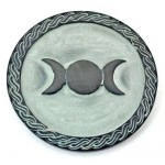 Triple Moon Green Stone Altar Paten Tile