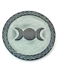 Triple Moon Green Stone Altar Paten Tile All Wicca Store Magickal Supplies Wiccan Supplies, Wicca Books, Pagan Jewelry, Altar Statues