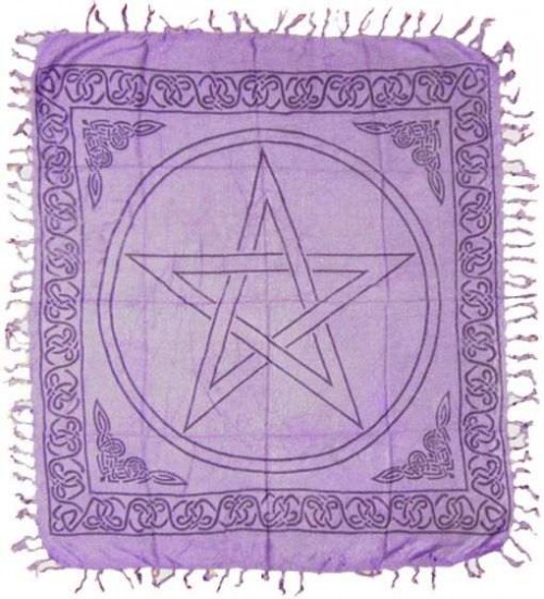 Purple Pentagram Altar Cloth at All Wicca Store Magickal Supplies, Wiccan Supplies, Wicca Books, Pagan Jewelry, Altar Statues