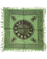 Celtic Earth Moon Phase Altar Cloth All Wicca Store Magickal Supplies Wiccan Supplies, Wicca Books, Pagan Jewelry, Altar Statues