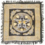 Goddess Pentacle Black and Gold Altar Cloth