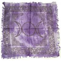 Purple Triple Moon Altar Cloth