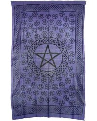 Pentagram Purple Cotton Full Size Tapestry All Wicca Store Magickal Supplies Wiccan Supplies, Wicca Books, Pagan Jewelry, Altar Statues