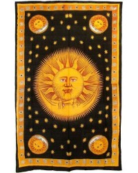 Solar Eclipse Gold Tapestry Bedspread All Wicca Store Magickal Supplies Wiccan Supplies, Wicca Books, Pagan Jewelry, Altar Statues