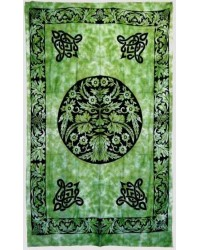 Green Man Green Cotton Full Size Tapestry All Wicca Store Magickal Supplies Wiccan Supplies, Wicca Books, Pagan Jewelry, Altar Statues