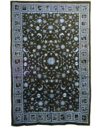 Zodiac Stars Blue Full Size Tapestry All Wicca Store Magickal Supplies Wiccan Supplies, Wicca Books, Pagan Jewelry, Altar Statues