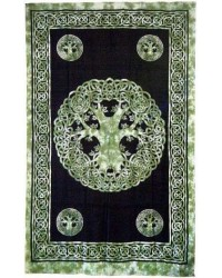 Green Tree of Life Celtic Cotton Full Size Tapestry All Wicca Magical Supplies Wiccan Supplies, Wicca Books, Pagan Jewelry, Altar Statues