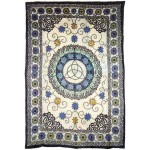 Floral Triquetra Charmed Cotton Full Size Tapestry