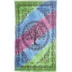 Tree of Life Tie Dye Cotton Full Size Bedspread