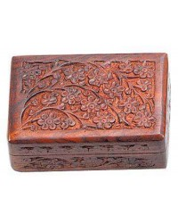Floral Carved Wooden 6 Inch Box All Wicca Store Magickal Supplies Wiccan Supplies, Wicca Books, Pagan Jewelry, Altar Statues