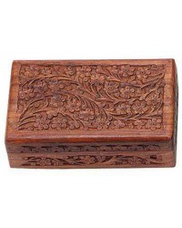 Floral Carved Wooden 8 Inch Box All Wicca Store Magickal Supplies Wiccan Supplies, Wicca Books, Pagan Jewelry, Altar Statues