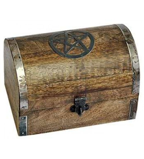 Pentacle Wooden Chest at All Wicca Store Magickal Supplies, Wiccan Supplies, Wicca Books, Pagan Jewelry, Altar Statues