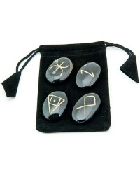 Wiccan Amulet Gemstone Set in Velvet Pouch