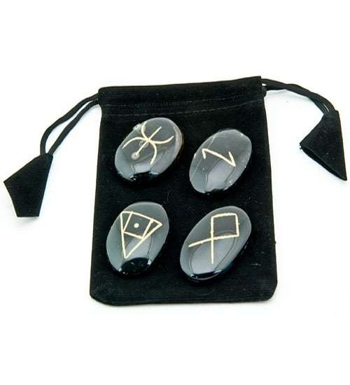 Wiccan Amulet Gemstone Set in Velvet Pouch at All Wicca Store Magickal Supplies, Wiccan Supplies, Wicca Books, Pagan Jewelry, Altar Statues