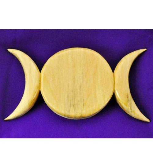 Triple Moon Wood Wall Plaque at All Wicca Store Magickal Supplies, Wiccan Supplies, Wicca Books, Pagan Jewelry, Altar Statues