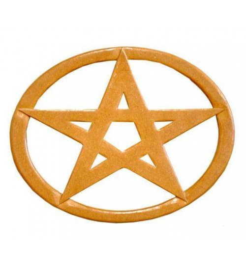 Pentacle Oval Wood Wall Plaque at All Wicca Magickal Supplies, Wiccan Supplies, Wicca Books, Pagan Jewelry, Altar Statues
