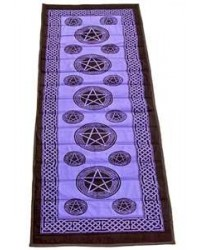 Pentacle Purple Cotton Yoga Mat All Wicca Store Magickal Supplies Wiccan Supplies, Wicca Books, Pagan Jewelry, Altar Statues