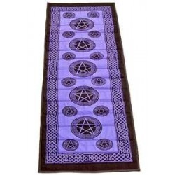Pentacle Purple Cotton Yoga Mat All Wicca Wiccan Altar Supplies, All Wicca Books, Pagan Jewelry, Wiccan Statues