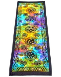 Pentacle Tie Dye Cotton Yoga Mat All Wicca Store Magickal Supplies Wiccan Supplies, Wicca Books, Pagan Jewelry, Altar Statues