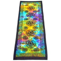 Pentacle Tie Dye Cotton Yoga Mat All Wicca Wiccan Altar Supplies, All Wicca Books, Pagan Jewelry, Wiccan Statues