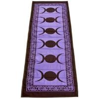 Triple Moon Purple Cotton Yoga Mat