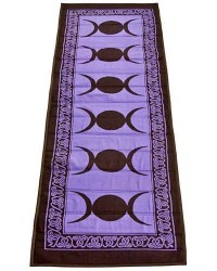 Triple Moon Purple Cotton Yoga Mat All Wicca Store Magickal Supplies Wiccan Supplies, Wicca Books, Pagan Jewelry, Altar Statues