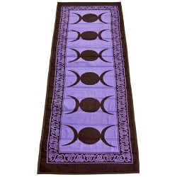 Triple Moon Purple Cotton Yoga Mat All Wicca Wiccan Altar Supplies, All Wicca Books, Pagan Jewelry, Wiccan Statues