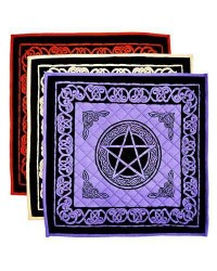 Pentacle Cotton Meditation Mats - 3 Assorted Colors All Wicca Store Magickal Supplies Wiccan Supplies, Wicca Books, Pagan Jewelry, Altar Statues