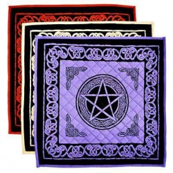 Pentacle Cotton Meditation Mats - 3 Assorted Colors All Wicca Wiccan Altar Supplies, All Wicca Books, Pagan Jewelry, Wiccan Statues