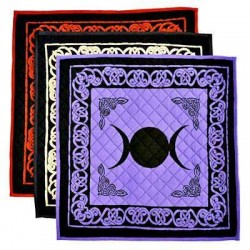 Triple Moon Cotton Meditation Mats - 3 Assorted Colors All Wicca Wiccan Altar Supplies, All Wicca Books, Pagan Jewelry, Wiccan Statues