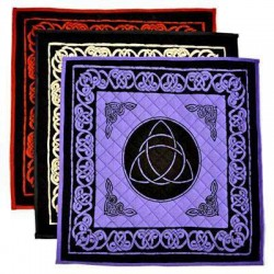 Triquetra Cotton Meditation Mats - 3 Assorted Colors All Wicca Wiccan Altar Supplies, All Wicca Books, Pagan Jewelry, Wiccan Statues