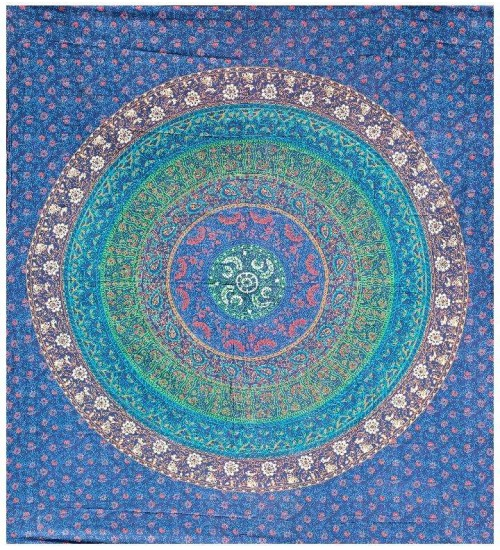 Floral Ring Blue Double Tapestry at All Wicca Store Magickal Supplies, Wiccan Supplies, Wicca Books, Pagan Jewelry, Altar Statues