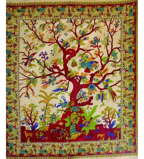 Tree of Life Double Tapestry at All Wicca Store Magickal Supplies, Wiccan Supplies, Wicca Books, Pagan Jewelry, Altar Statues