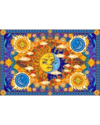 Firey Sun and Moon Cotton Bedspread All Wicca Store Magickal Supplies Wiccan Supplies, Wicca Books, Pagan Jewelry, Altar Statues