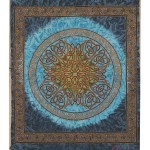 Celtic Print Turquoise Tapestry